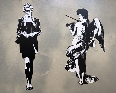 Blek le Rat, 'Diana In Paradise (Diana And The Angel) - Artist Proof', 2008