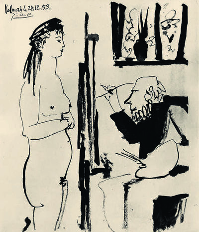 Pablo Picasso, 'Peintre et modèle (Artist and Model)', 1953