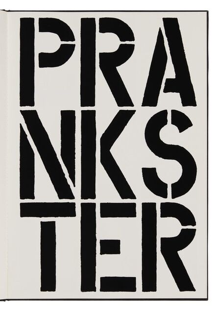Christopher Wool, 'Prankster (page from Black Book) ', 1989