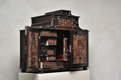 Unknown, 'Court cabinet with star marquetry', Augsburg-ca 1620