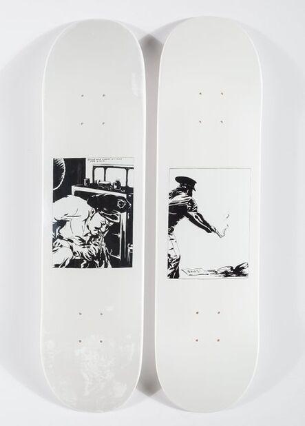 Supreme X Raymond Pettibon, 'Bang and Blood & Sperm (two works)', 2014