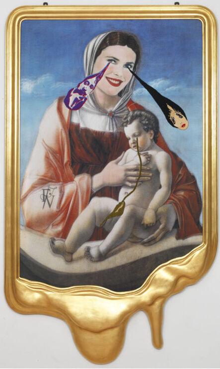 Francesco Vezzoli, 'CRYING PORTRAIT OF CHRISTIE BRINKLEY AS A RENAISSANCE MADONNA WITH HOLY CHILD (AFTER GIOVANNI BELLINI)', 2010