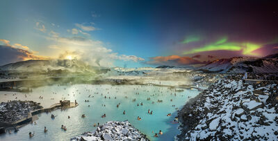 Stephen Wilkes, 'Blue Lagoon, Iceland, Day to Night', 2019