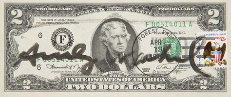 Andy Warhol, 'Two Dollars Jefferson', 1976
