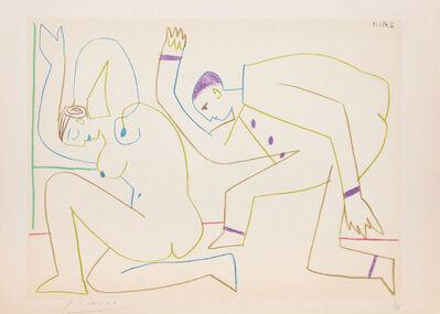 Pablo Picasso, '(Two Dancers.) Untitled from Suite de 15 dessins de Picasso. ', 1954