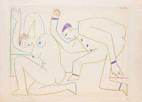 Pablo Picasso, '(Two Dancers.) Untitled from Suite de 15 dessins de Picasso. ', 1954