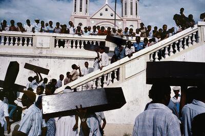 Alex Webb, 'A memorial for victims of army violence. Port-au-Prince. HAITI.', 1987