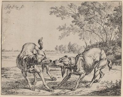 Jan le Ducq, 'La viande disputé', 1661