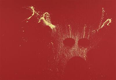Milen Till, 'Drummer Drama III (Yellow on Red)', 2020