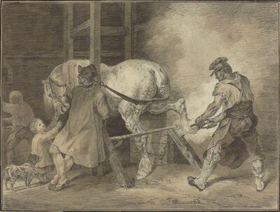 after Léon Cogniet after Théodore Gericault, 'The Blacksmith's Shop', after 1822