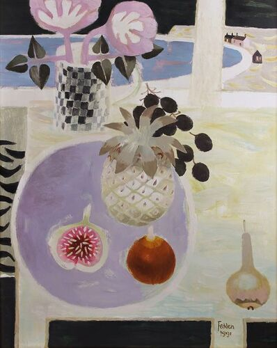 Mary Fedden, 'Still Life with Fig and Pineapple', 1991