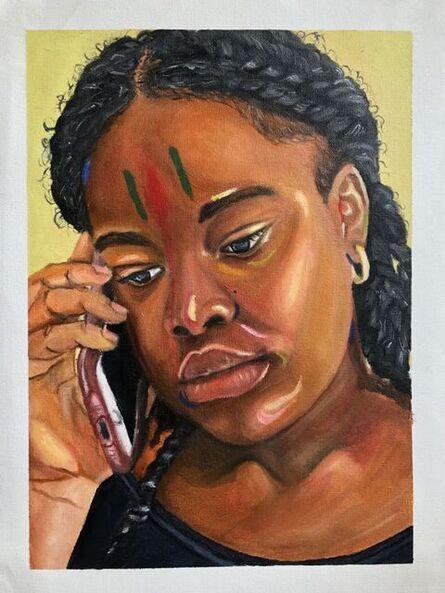 Edesi Andrea Akhile, 'A phone call', ca. 2021