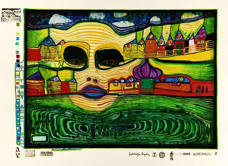 Friedensreich Hundertwasser, 'Irinaland Over the Balkans', 1971