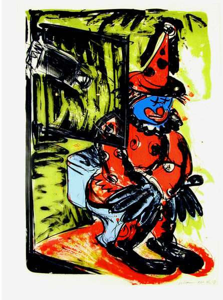 Bruce Nauman, 'Clown Taking a Shit', 1988