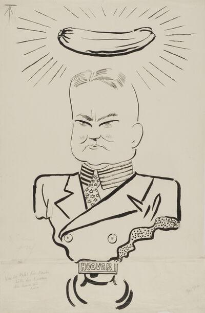 George Grosz, 'Hoover', 1932