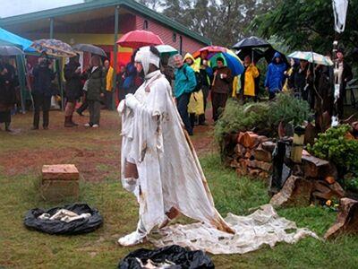 Bandu Manamperi, 'Bandaged Body (Performance Still) ', 2003