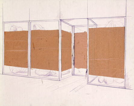 Christo, 'Store Front (preliminary study of project for Documenta IV, Kassel 1968)', 1966