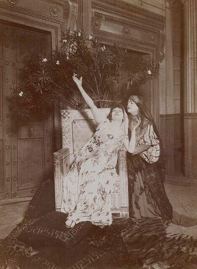 H. Mairet, 'Sarah Bernhardt in Racine's Phaedra', 1884c / 1884c