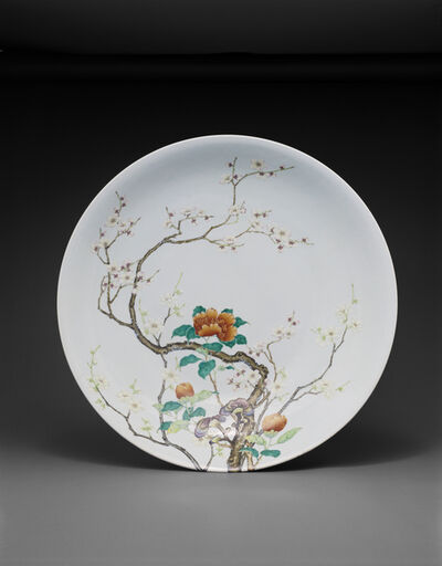 'Dish with design of camellia and flowering plum', 1723 -35