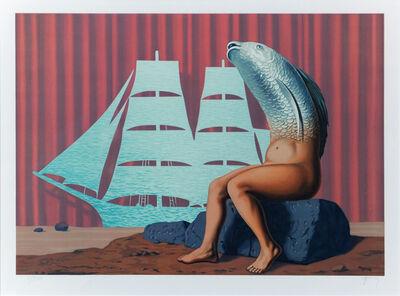 René Magritte, 'Un Séduisant Navire d'eau de Mer...', 1968