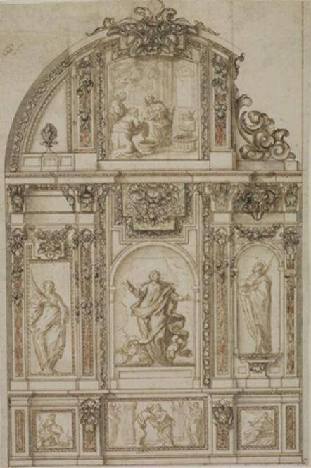 Sebastián de Herrera Barnuevo, 'Design for a Chapel Altar Wall', ca. 1650-60