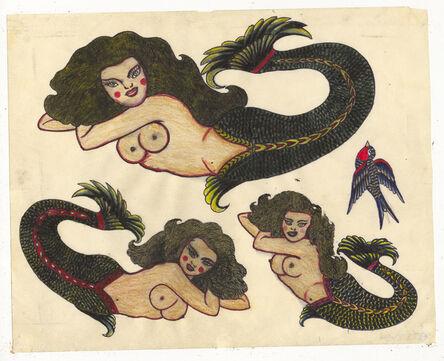 Rosie Camanga, 'Untitled (Mermaids)', ca. 1950