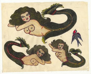 Rosie Camanga, 'Untitled (Mermaids)', ca. 1950