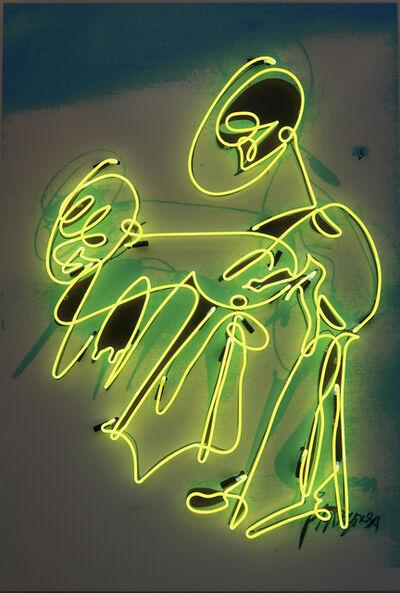 Pascale Marthine Tayou, 'Graffiti Neon (Yellow)', 2018