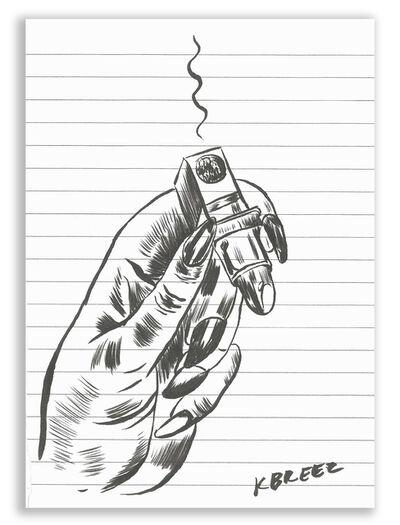 "Kelly Breez, '""She Smokes""', 2016"