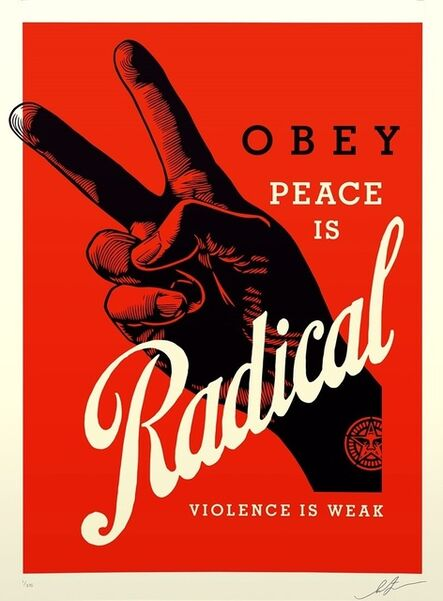 Shepard Fairey, 'Obey Radical Peace (red)', 2021