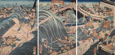 Utagawa Kuniyoshi, 'Great Battle of Yashima', ca. 1849-1851