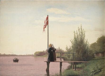 Christen Købke, 'A View from Dosseringen near the Sortedam Lake Looking towards the Suburb Nørrebro outside Copenhagen', 1838