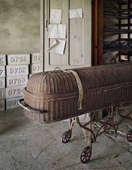 Christopher Payne, 'Casket and Unused Grave Markers, St. Lawrence State Hospital, Ogdensburg, NY', 2004