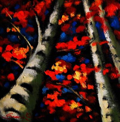 Sergey Cherep, 'Birch Trees III'