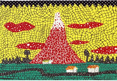 Yayoi Kusama, 'Red Mt. Fuji', 1982
