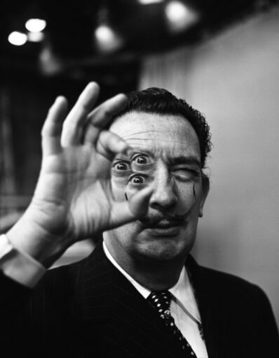 Philippe Halsman, 'Dali with lens, backstage at the CBS Morning Show, NYC', 1956
