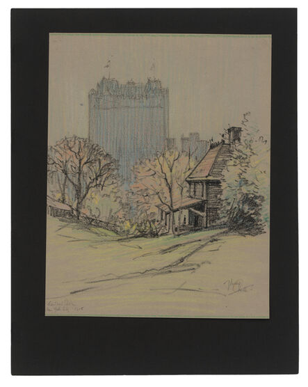 Jules Andre Smith, 'A View of the Plaza Hotel from Central Park', 1915