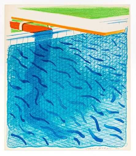 David Hockney, 'Pool Made with Paper and Blue Ink for book Paper Pools (MCA Tokyo 234)', 1980