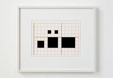 Channa Horwitz, 'LANGUAGE SERIES L, 1-4-5', 1964