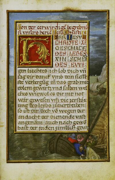 Simon Bening, 'Border with Jonah Cast into the Sea', 1525-1530