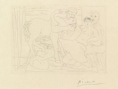 Pablo Picasso, 'Le Repos du Sculpteur devant un Centaure et une Femme, plate 58 from 'La Suite Vollard' (B. 167; Ba. 320 Bd)', 1933