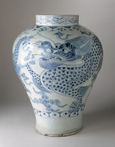 'Jar with Dragon and Clouds', Joseon dynasty (1392-1910); 18th century