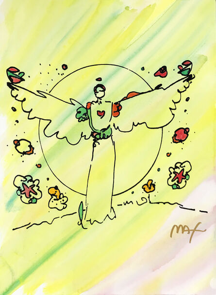Peter Max, 'ANGEL WITH HEART', ca. 1990
