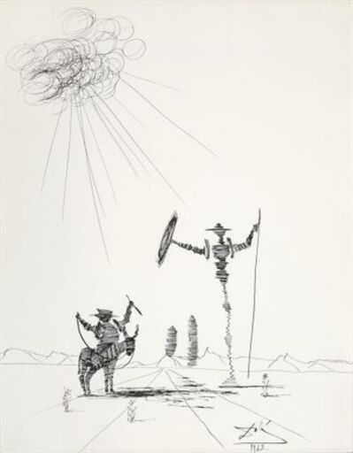Salvador Dalí, 'Don Quixote ', 1962