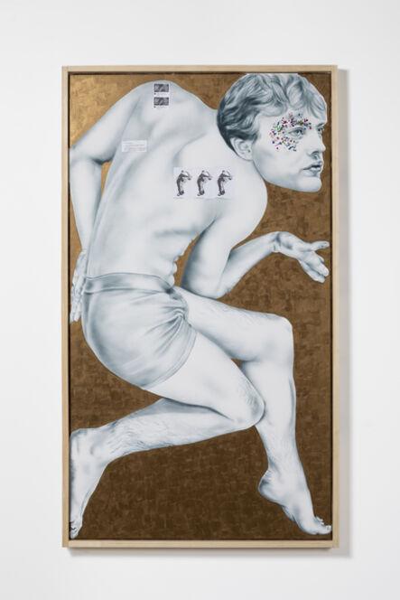 Zoe Barcza, 'Self-Portrait as Michael Pitt (Boner Or No Boner?)', 2018