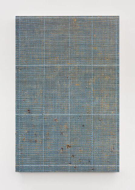 Chi Qun 迟群, 'Four Thin Lines - Blue and Orange 1', 2018
