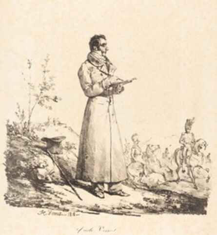 Horace Vernet, 'Carle Vernet, Full-Length', 1818