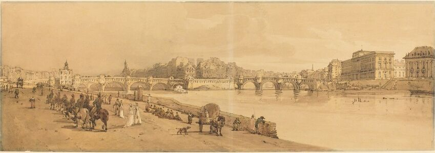 Thomas Girtin, 'A View of the Pont Neuf, the Mint, etc.: pl.8', published 1802