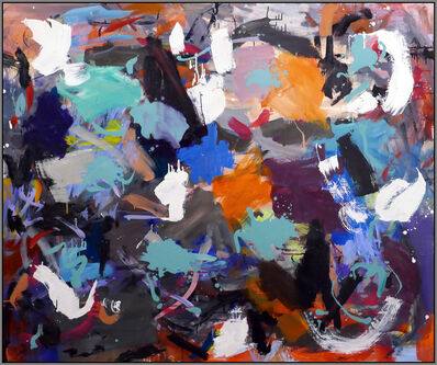 Scott Pattinson, 'Ouvert No 65 - large, vibrant, colorful, gestural abstract acrylic on canvas', 2018
