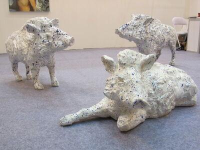 Carl Emanuel Wolff, 'Boars', 2013